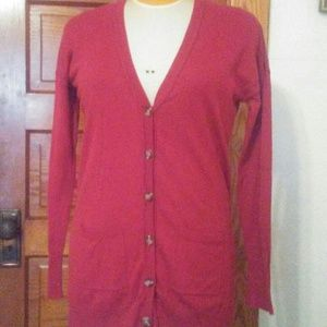 Mossimo Red Boyfriend Cardigan